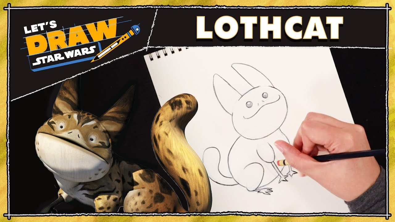 Draw Star Wars How To Draw A Loth Cat
