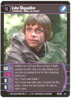 Luke Skywalker (O) - #58 - Uncommon